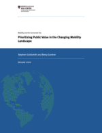 Prioritizing Public Value in the Changing Mobility Landscape