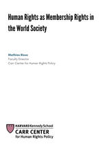 Human Rights as Membership Rights in the World Society. CCDP 2018-006, October 2018.
