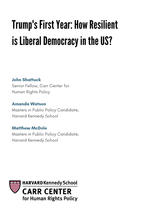 Trump's First Year: How Resilient is Liberal Democracy in the US? CCDP 2018-001, February 2018