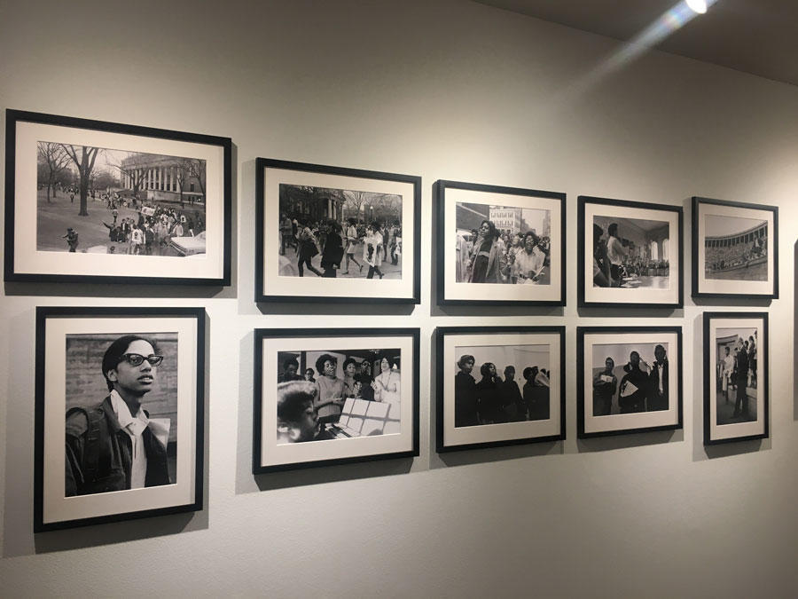 Collection of images documenting several protests organized by the Harvard-Radcliffe Association of African and Afro-American Students (AFRO)