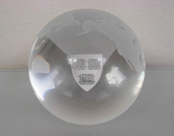 LR Paris Glass globe paperweight - $51.04