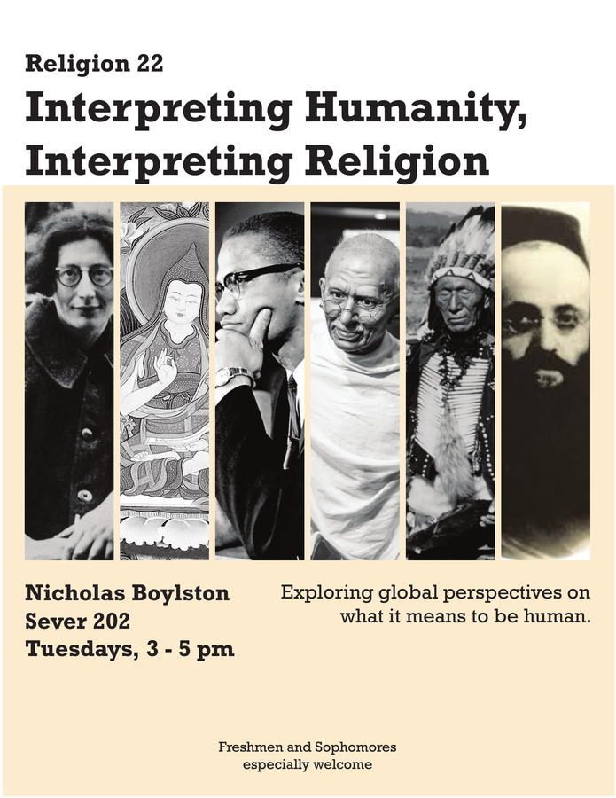 Rel 22: Interpreting Humanity, Interpreting Religion, Boylston