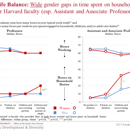 Wide gender gaps in household duties