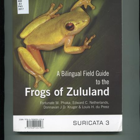 A bilingual field guide to the Frogs of Zululand