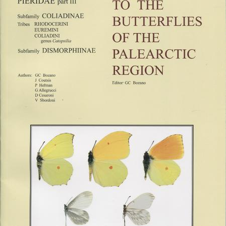 Guide to the butterflies of the Palearctic Region. v. [5]. Pieridae, pt.III