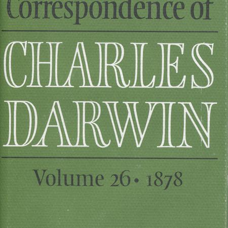 The correspondence of Charles Darwin. Vol. 25, 1877