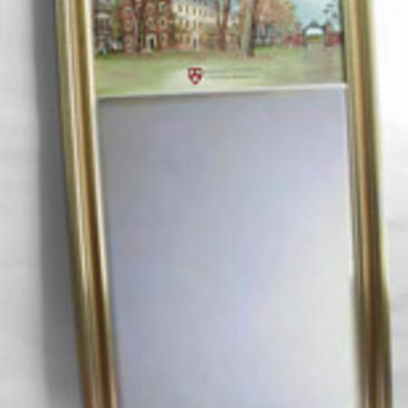 Eglomise Large Mirror $236.26 (Three images available: John Harvard, Johnston Gate and Mass Hall) (Traditional and Antique style frames available gold or silver)