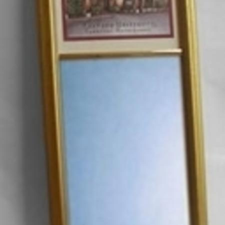 Eglomise Mini Mirror - $97.24 (3 images available: John Harvard, Johnston Gate and Mass Hall) (Traditional and Antique style frames available gold or silver)