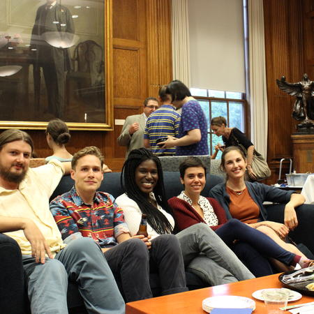 a few of our graduate students at the 2014 Fall Reception