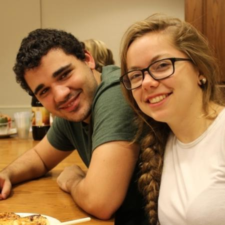 winners of the Russian B cooking contest: Jon Cruz and Juliette Cremel