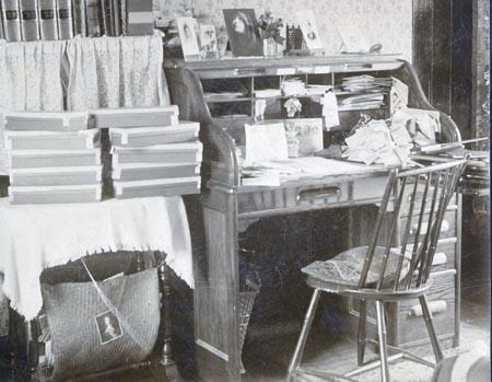 Elizabeth Goldthwaite's Desk at the Young People's Christian Union