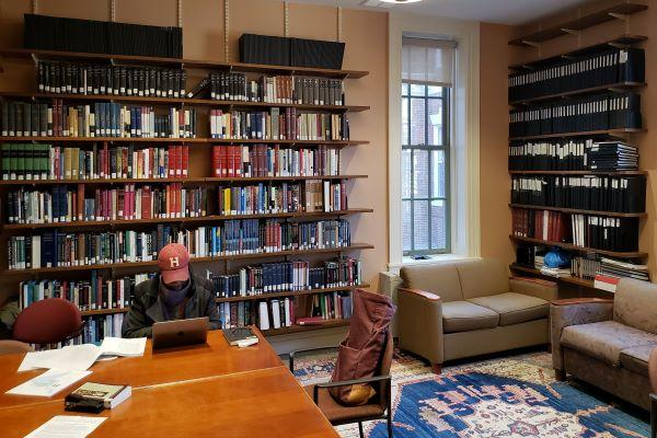 Graduate Student Reading in Raines Library