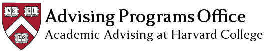 Advising Programs Office: Academic Advising at Harvard College