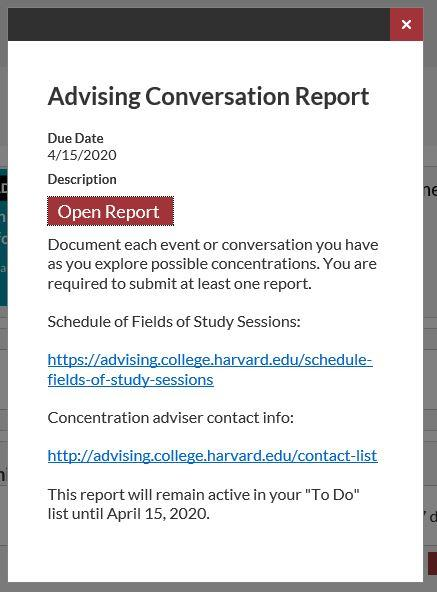 document your conversation 2: open report