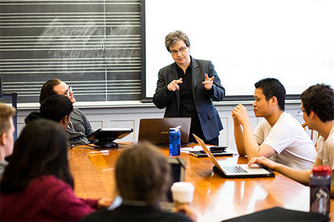 Prof. Suzie Clark teaching in Music