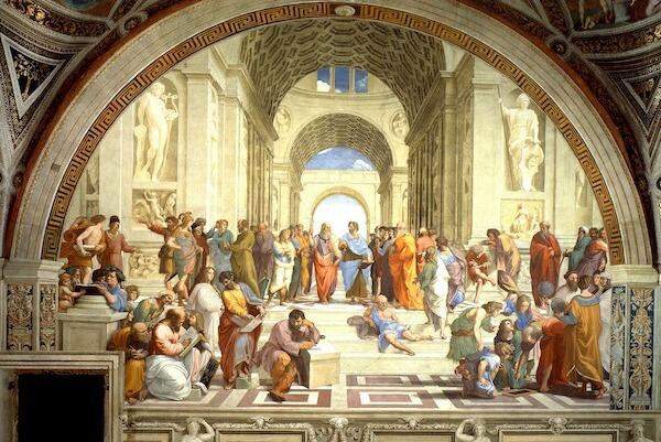 Raphael painting of the Art School of Athens