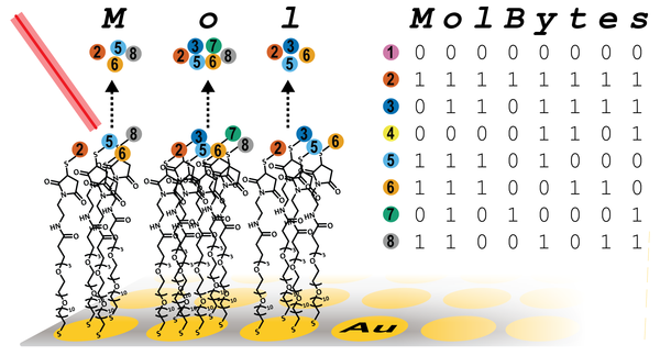 "Pairing molecule mass and binary code, the Whitesides team can ""write"" massive amounts of data"