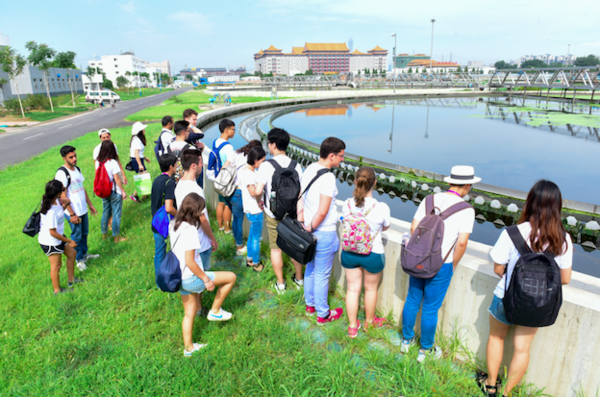 wastewater treatment plant visit beijing