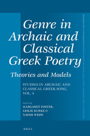 book cover: Genre in Archaic and Classical Greek Poetry