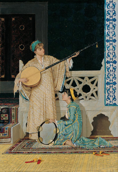 two_musician_girls by Osman Hamdi