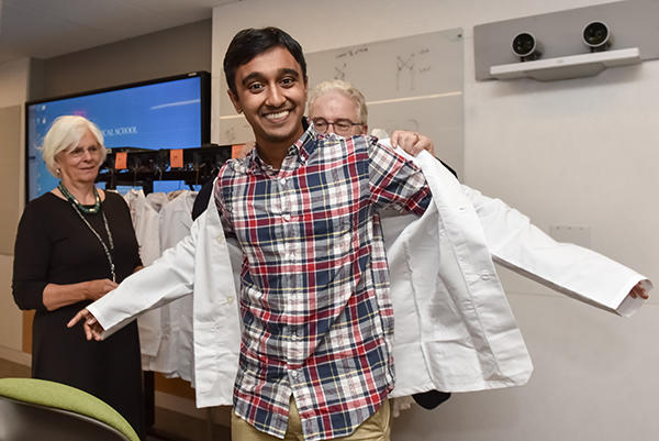 Student gets White Coat