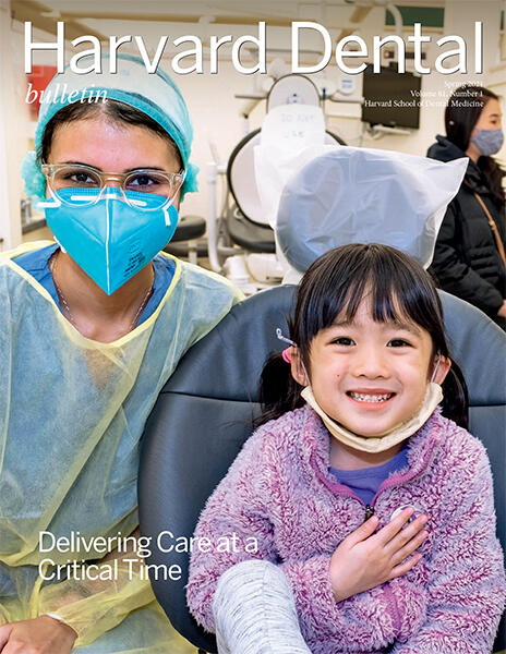 magazine cover with photo of child and provider