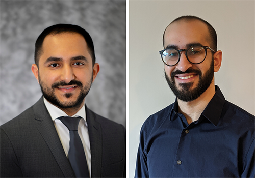 Hesham Alhazmi, DMSc22 (left) and Fahad Hegazi, DMSc22 (right) collaborated with Italian colleagues on a study of COVID-19 patients in Italy.