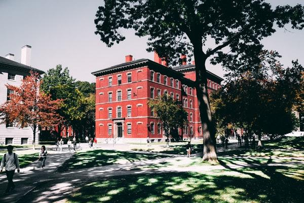 red building in harvard yard