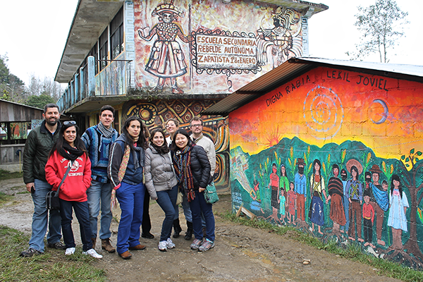 Students in the HSPH January course on healthcare in Mexico visit the Zapatista Village in Oventic, Chiapas, Mexico