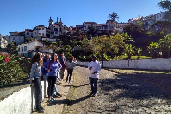 Summer Internship Program Participants in Ouro Preto, Brazil