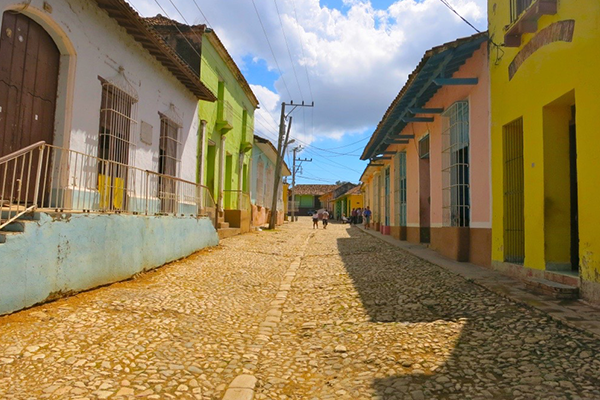 nearly empty street in Cuba