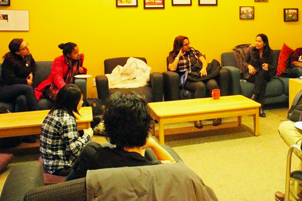 Group discussion in the Harvard College Women's Center