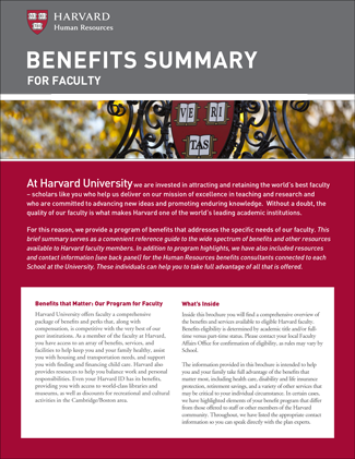 Faculty Benefits Summary PDF