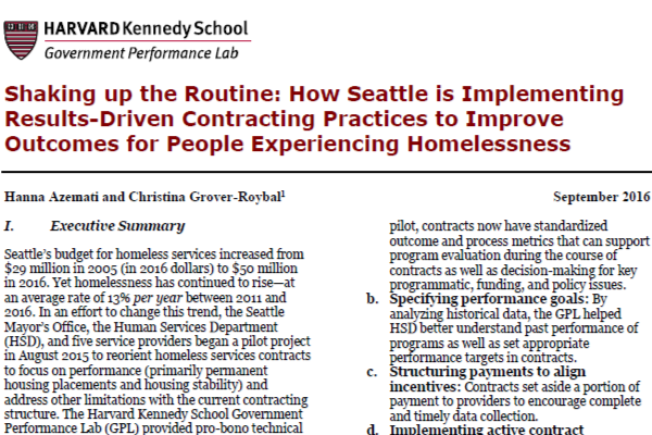 Seattle Policy Brief