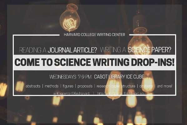 Science Writing Drop-Ins