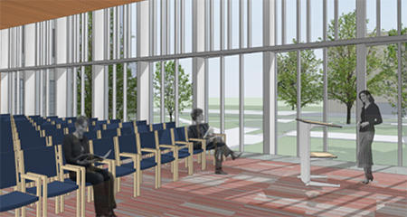 Lecture hall in Andover Hall