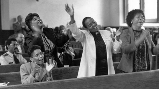 Black History Month Worship Service in 1991. / Photo: Bradford Herzog