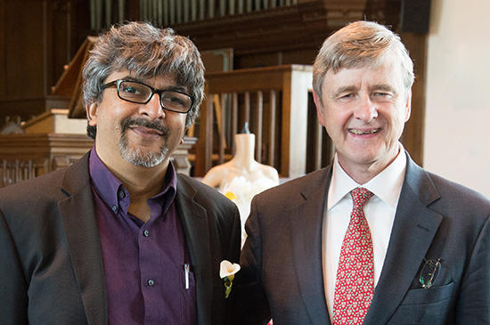 Rakesh Rajani and HDS Dean David Hempton