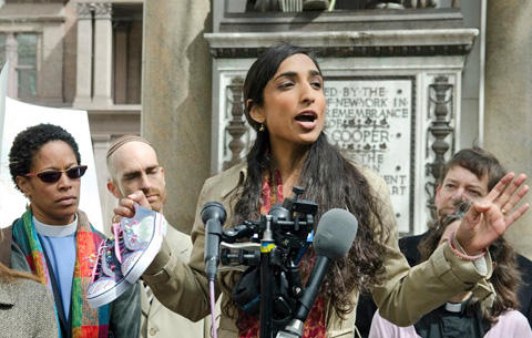 Valarie Kaur at protest