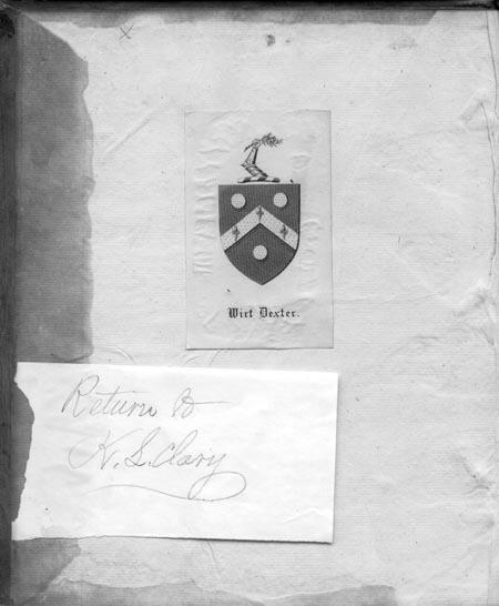 Bookplate of Wirt Dexter