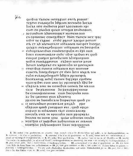 Transcription of the First Leaf of the Muratorian Canon