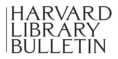 Harvard Library Bulletin - Home