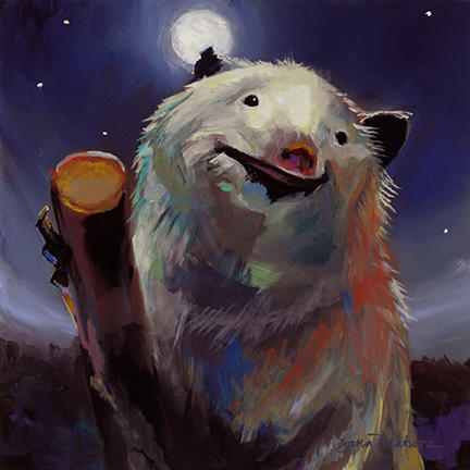 Painting of a Moonrat.