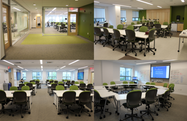 Academic Society Suites include a learning studio, classroom and lab. Images: Grace Fehrenbach