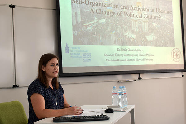 Emily Channell-Justice presents at Ukrainian Catholic University, Lviv