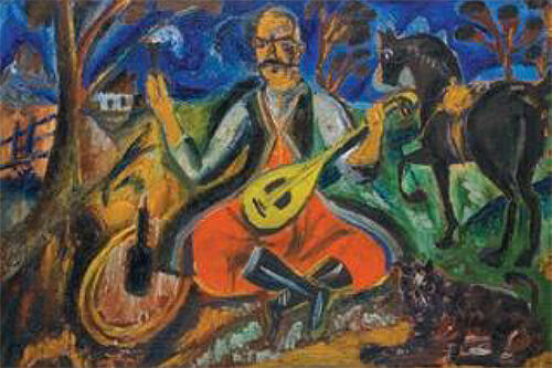 David Burliuk's Cossack Mamai