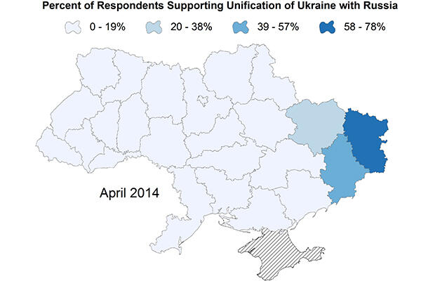 map of Ukraine and Russia region