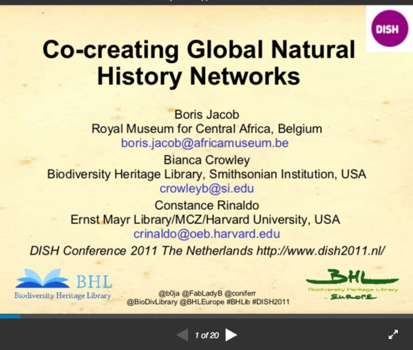 Co-creating Global Natural History Networks
