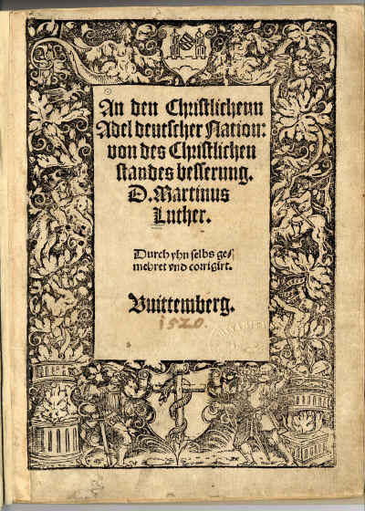 Luther, An den Christlichenn Adel deutscher Nation