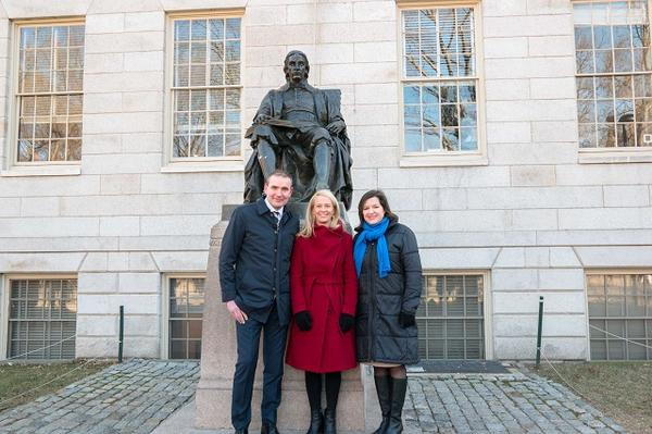 The President and First Lady with Halla Logadottir of the Arctic Initiative at HKS